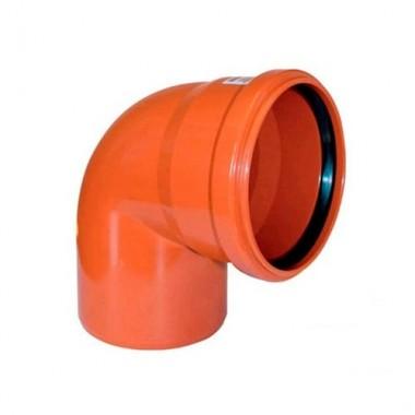 Колено наружной канализации Redi 110 87° (071115Е)