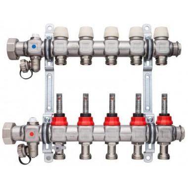 Колектор для теплої підлоги x-net Комфорт FT-12 нержавійка з топметром SFVT1200000