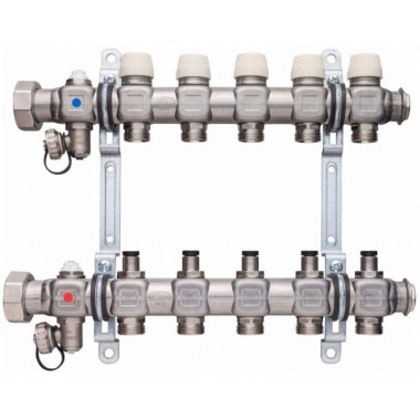 Коллектор для теплого пола х-net Стандарт FХ-09 нержавейка SFV09000000