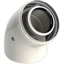 Колено коаксиальное раструб GROPPALLI для конденсационных котлов 45°, 60/100 мм (A32160)