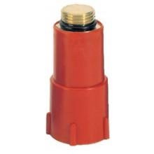 Заглушка Goplast пластик-латунь красная (1142ОТТ001)
