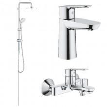 Набор для ванны Grohe BauEdge, хром (23330000+23605000+27389002)