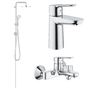 Набір для ванни Grohe BauEdge, хром (23330000+23605000+27389002)