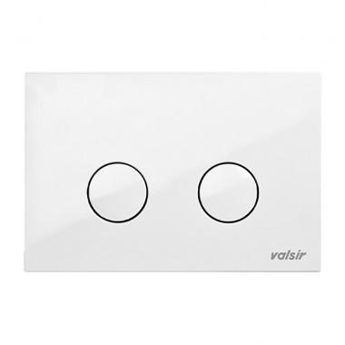 Клавиша механическая Valsir P4 белая ABS пластик (869301)