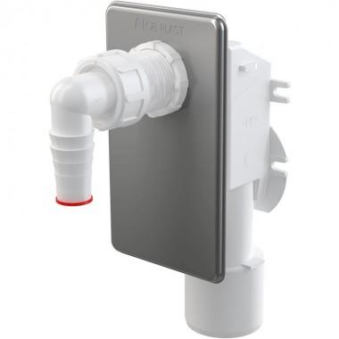 Сифон для стиральной машинки Alcaplast APS3 под штукатурку, нержавеющая сталь
