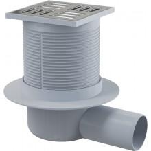 Зливний трап Alcaplast APV31 105х105/50 мм бічний стік, гідрозатвор комбінований smart
