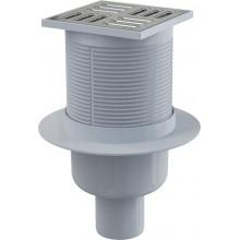Зливний трап Alcaplast APV32 105×105/50 мм прямий стік, гідрозатвор комбінований SMART