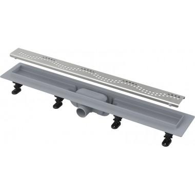 Водоотводящий желоб Alcaplast APZ8-750m Simple с порогами для перфорированной решетки