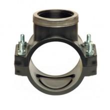 Хомут для врезки с металлическим кольцом 160х1* PN-10 бар PP-B Unidelta 1026