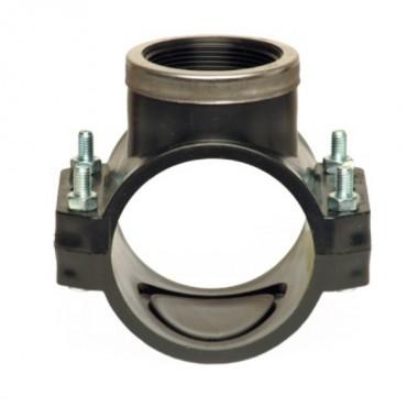 Хомут для врізки з металевим кiльцем 160х1* PN-10 бар PP-B Unidelta 1026
