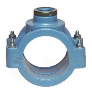Хомут с металлическим кольцом 110х1*1/2 PN-16 бар PP-B Unidelta 1031