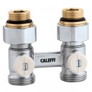 Кран радіаторний прямий Caleffi 1/2х3/4 нижнього підключення (301040)