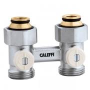 Кран радіаторний прямий Caleffi 3/4х3/4 нижнього підключення (301050)