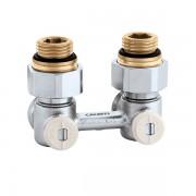 Кран радиаторный угловой Caleffi 1/2х3/4 нижнего подключения (301140)