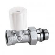 Кран радиаторный термостатический с предварительной настройкой Caleffi 1/2 универсальный прямой (422402)