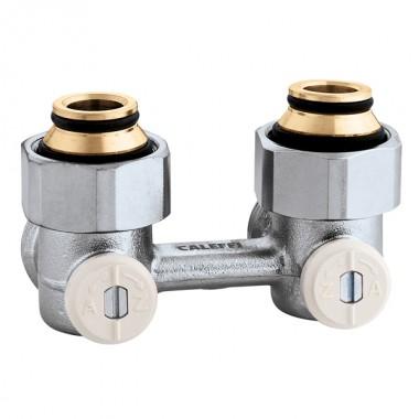 Кран радіаторний кутовий Caleffi 3/4х3/4 нижнього підключення (301150)