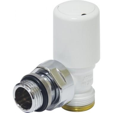 Кран радіаторний кутовий Carlo Poletti FIRST білий (V140111E)