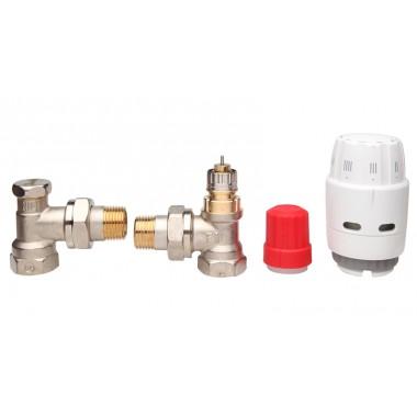 Комплект термостатический Danfoss RAS-C2+RA-N 15+RLV-S 1/2 угловой (013G2219)