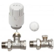 Комплект E.C.A. термоголовка+отсекатель 1/2 прямой + термостатический кран (ЗА078)