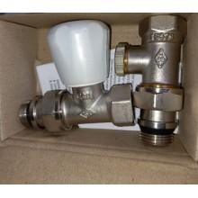 Комплект E.C.A. вентиль прямой+отсекатель 1/2 с уплотнителем (3302)